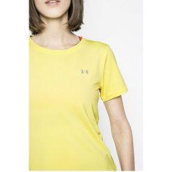 Under Armour - Top. Szare topy sportowe damskie marki Under Armour, l, z dzianiny, z okrągłym kołnierzem. W wyprzedaży za 99,90 zł.