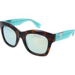 """Okulary przeciwsłoneczne damskie: Okulary przeciwsłoneczne """"GU7454"""" w kolorze turkusowo-brązowym"""