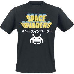 Space Invaders Logo T-Shirt czarny. Czarne t-shirty męskie z nadrukiem Space Invaders, m, z okrągłym kołnierzem. Za 54,90 zł.