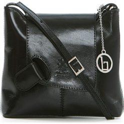 Torebki klasyczne damskie: Skórzana torebka w kolorze czarnym – 24 x 20 x 6,5 cm