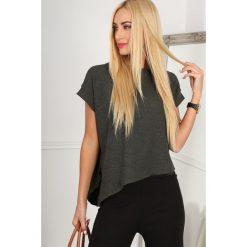 Bluzki, topy, tuniki: Khaki Asymetryczny T-shirt BB20606