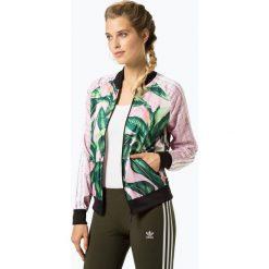 Adidas Originals - Kurtka damska, biały. Białe bomberki damskie adidas Originals, s, w geometryczne wzory, z satyny. Za 349,95 zł.