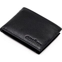 PORTFEL MĘSKI SKÓRZANY A088 - CZARNY. Czarne portfele męskie Ombre Clothing, z materiału. Za 39,00 zł.