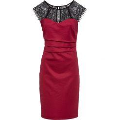 Sukienka bonprix czerwono-czarny. Czerwone sukienki koronkowe marki bonprix. Za 149,99 zł.