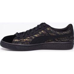 Puma - Buty Basket Swan Wn. Czarne buty sportowe damskie marki Puma, z materiału. W wyprzedaży za 239,90 zł.