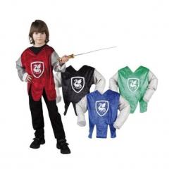 Koszula rycerza dla dzieci 4-6 lat - 4 kolory. Szare koszule chłopięce marki ASTER. Za 50,50 zł.
