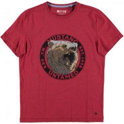 Mustang T-Shirt Męski, L, Czerwony. Czarne t-shirty męskie marki Mustang, l, z bawełny, z kapturem. Za 128,00 zł.