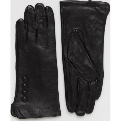 Answear - Rękawiczki skórzane. Czerwone rękawiczki damskie ANSWEAR, z materiału. Za 89,90 zł.