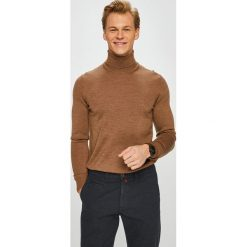 Tommy Hilfiger Tailored - Sweter. Brązowe golfy męskie Tommy Hilfiger Tailored, l, z dzianiny. Za 399,90 zł.