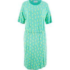 Sukienka z dżerseju, krótki rękaw, z kolekcji Maite Kelly bonprix niebieski mentolowy z nadrukiem. Niebieskie sukienki mini bonprix, z nadrukiem, z dżerseju, z krótkim rękawem. Za 49,99 zł.