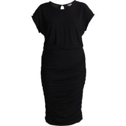 Sukienki hiszpanki: Vince Camuto Plus SIDE RUSHED DRESS Sukienka z dżerseju black