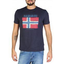 Napapijri T-Shirt Męski M Ciemny Niebieski. Niebieskie t-shirty męskie marki Oakley, na lato, z bawełny, eleganckie. Za 189,00 zł.