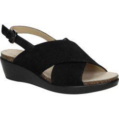 SANDAŁY GEOX D72P6D 022BC. Czarne sandały damskie Geox. Za 299,99 zł.