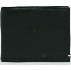 Tommy Hilfiger - Portfel skórzany. Czarne portfele męskie TOMMY HILFIGER, z materiału. Za 299,90 zł.