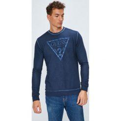 Guess Jeans - Bluza. Szare bluzy męskie rozpinane marki Guess Jeans, l, z aplikacjami, z bawełny. Za 369,90 zł.