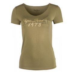 Pepe Jeans T-Shirt Damski Jane S, Khaki. Brązowe t-shirty damskie Pepe Jeans, m, z jeansu. Za 183,00 zł.