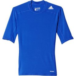 Adidas Koszulka męska Techfit Base Short Sleeve niebieska r. L (AJ4972). Niebieskie koszulki sportowe męskie Adidas, l, techfit (adidas). Za 89,45 zł.