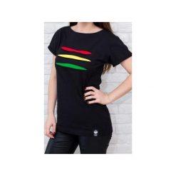 T-shirt #torn rasta. Czarne t-shirty damskie Desert snow, m, z aplikacjami, z bawełny. Za 79,00 zł.