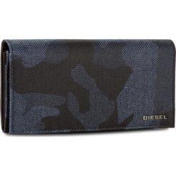 Duży Portfel Damski DIESEL - 24 A Day X04111 P1071 H6079. Niebieskie portfele damskie Diesel, z materiału. W wyprzedaży za 349,00 zł.