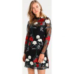 Sukienki hiszpanki: New Look PREMIUM HIGHNECK EMBROIDED Sukienka koktajlowa black