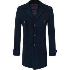 Płaszcz ADRIANO 16-12KK. Czarne płaszcze na zamek męskie Giacomo Conti, m, z aplikacjami, z wełny. Za 699,00 zł.