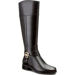 Oficerki MICHAEL MICHAEL KORS - Fulton 40F2FHFB5L Black. Czarne buty zimowe damskie marki MICHAEL Michael Kors, z gumy, przed kolano, na wysokim obcasie. W wyprzedaży za 899,00 zł.