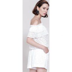 Kombinezony damskie: Biały Kombinezon Nonchalant Look