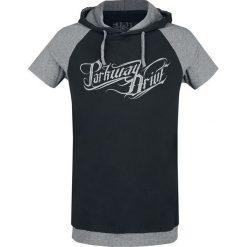 Parkway Drive EMP Signature Collection T-Shirt melanż czarny/szary. Czerwone t-shirty męskie z nadrukiem marki Cropp, l, z kapturem. Za 99,90 zł.
