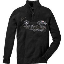 Golfy męskie: Sweter ze stójką Regular Fit bonprix czarny