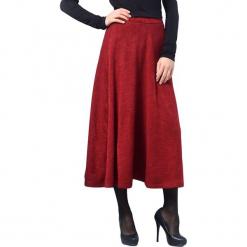 Spódnica w kolorze czerwonym. Czerwone długie spódnice Lila Kass, xxs, z podwyższonym stanem, rozkloszowane. W wyprzedaży za 199,95 zł.