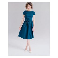 Sukienki hiszpanki: Sukienka Melia turkusowa (niższa talia) 32