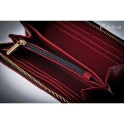 SKÓRZANY PORTFEL CZERWONY. Czerwone portfele damskie Felice, z materiału. Za 99,00 zł.