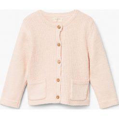Mango Kids - Kardigan dziecięcy Piave 62-80 cm. Szare swetry dziewczęce Mango Kids, z bawełny. W wyprzedaży za 39,90 zł.