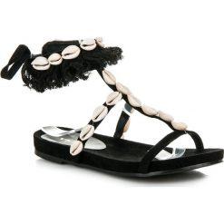Rzymianki damskie: Wiązane sandałki z muszelkami JAIME