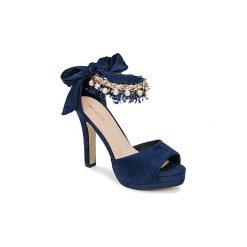 Czółenka Menbur  DINIIE. Niebieskie buty ślubne damskie Menbur. Za 349,00 zł.