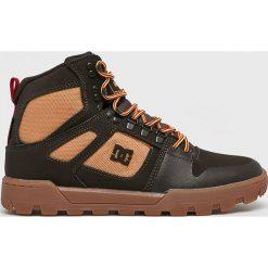 DC - Buty. Brązowe buty trekkingowe męskie DC, z materiału, na sznurówki, outdoorowe. Za 579,90 zł.
