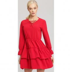 Czerwona Sukienka Storm. Czerwone sukienki mini other, uniwersalny. Za 79,99 zł.