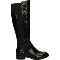 Kozaki ocieplane - 1480BP P-L NE. Żółte buty zimowe damskie marki Venezia, ze skóry. Za 249,00 zł.