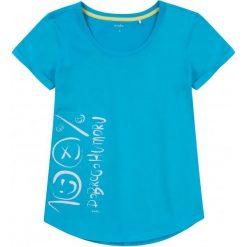 Bluzki dziewczęce z krótkim rękawem: Lekko taliowana bluzka damska z krótkim rękawem