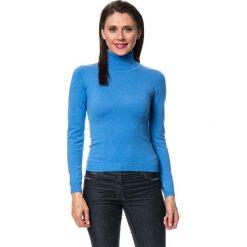 Golfy damskie: Sweter w kolorze niebieskim