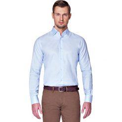 Koszula Błękitna Nilla. Niebieskie koszule męskie na spinki LANCERTO, m, z bawełny, z klasycznym kołnierzykiem. Za 299,90 zł.