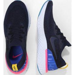 Nike Performance EPIC REACT FLYKNIT Obuwie do biegania treningowe college navy/race. Niebieskie buty do biegania męskie marki Nike Performance, z materiału. Za 639,00 zł.