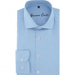 Koszula RICCARDO 16-05-08-K. Szare koszule męskie na spinki marki S.Oliver, l, z bawełny, z włoskim kołnierzykiem, z długim rękawem. Za 229,00 zł.