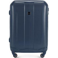 Walizka średnia 56-3A-372-90. Niebieskie walizki marki Wittchen, z gumy, średnie. Za 179,00 zł.