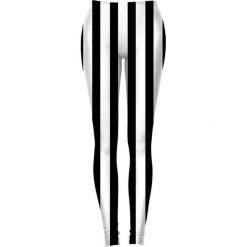 Legginsy we wzory: Legginsy w kolorze biało-czarnym