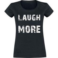 Laugh More Koszulka damska czarny. Czarne t-shirty damskie Laugh More, s. Za 42,90 zł.