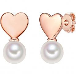 Pozłacane kolczyki-wkrętki z perłami w kolorze białym. Szare kolczyki damskie marki W.KRUK, z cyrkonią, pozłacane. W wyprzedaży za 227,95 zł.