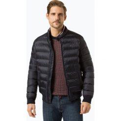 Tommy Hilfiger - Męska kurtka pikowana, niebieski. Niebieskie kurtki męskie pikowane marki TOMMY HILFIGER, m, w paski, prążkowane. Za 899,95 zł.