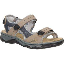 Sandały Rieker 68872. Czarne sandały damskie marki Rieker, z materiału. Za 238,99 zł.