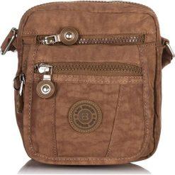 Brązowa MAŁA TORBA SASZETKA NA RAMIĘ Z MIKROFIBRY BAG STREET. Brązowe torby na ramię męskie marki Kazar, ze skóry, przez ramię, małe. Za 54,90 zł.